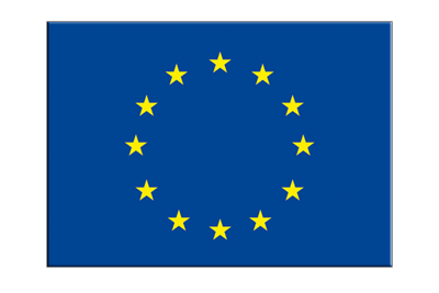 "Flag Sticker European Union EU - 3x4"", 5 pcs"