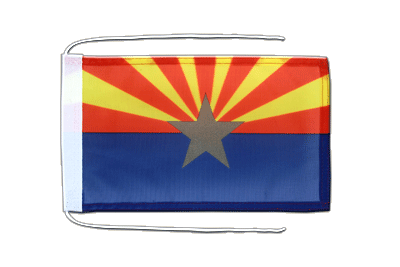 Flag with ropes Arizona - 8x12""