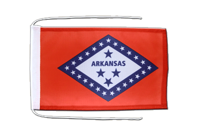 Flag with ropes Arkansas - 8x12""