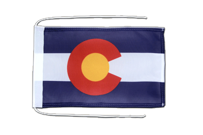 Flag with ropes Colorado - 8x12""