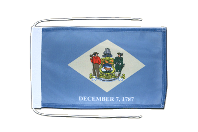 Flag with ropes Delaware - 8x12""