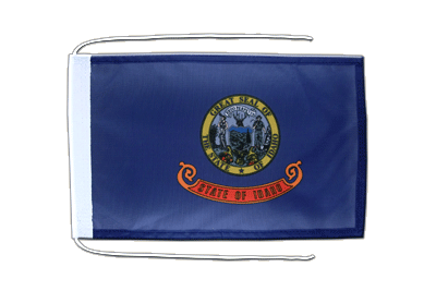 Flag with ropes Idaho - 8x12""