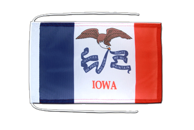 Flag with ropes Iowa - 8x12""