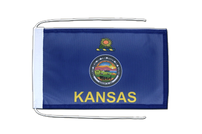 Flag with ropes Kansas - 8x12""