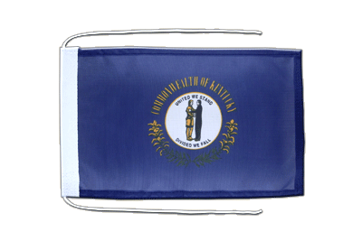Flag with ropes Kentucky - 8x12""