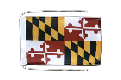 Flag with ropes Maryland - 8x12""