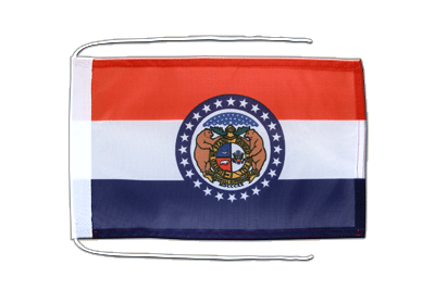 Flag with ropes Missouri - 8x12""