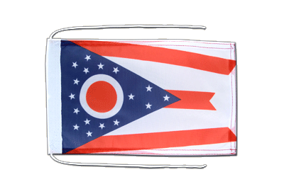 Flag with ropes Ohio - 8x12""