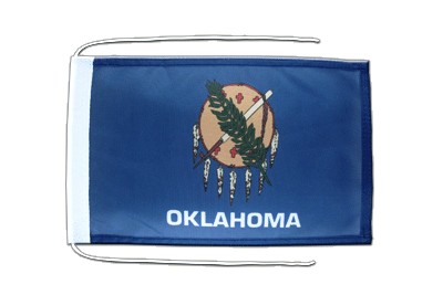 Flag with ropes Oklahoma - 8x12""