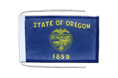 Flag with ropes Oregon - 8x12""