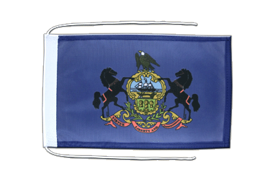 Flag with ropes Pennsylvania - 8x12""