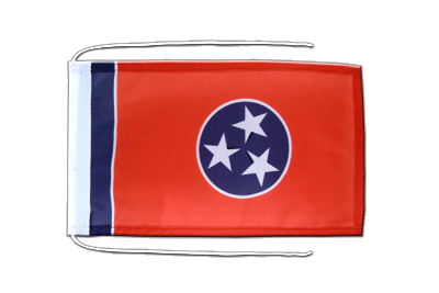 Flagge mit Kordeln Tennessee - 20 x 30 cm
