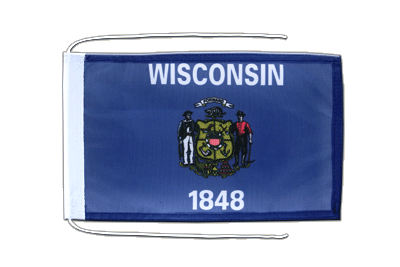 Flag with ropes Wisconsin - 8x12""