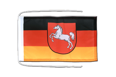 Flag with ropes Lower Saxony - 8x12""