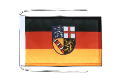 Flag with ropes Saarland - 8x12""