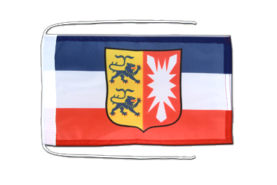 Flag with ropes Schleswig-Holstein - 8x12""