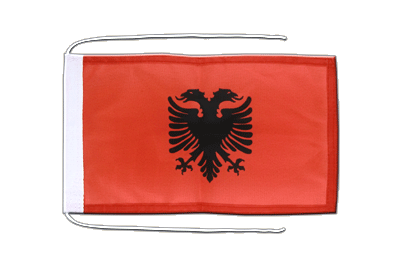 Flag with ropes Albania - 8x12""