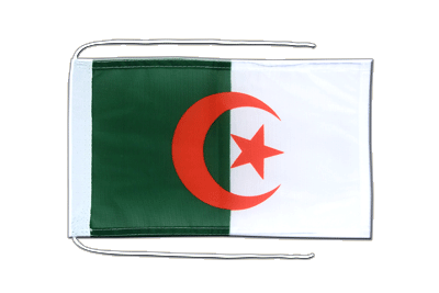 Flag with ropes Algeria - 8x12""