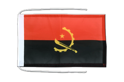 Flag with ropes Angola - 8x12""