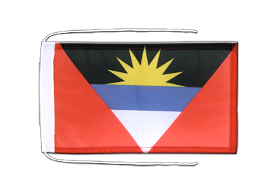 Flag with ropes Antigua and Barbuda - 8x12""