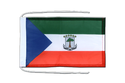 Flag with ropes Equatorial Guinea - 8x12""