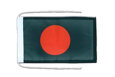 Flag with ropes Bangladesh - 8x12""