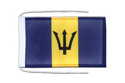 Flag with ropes Barbados - 8x12""