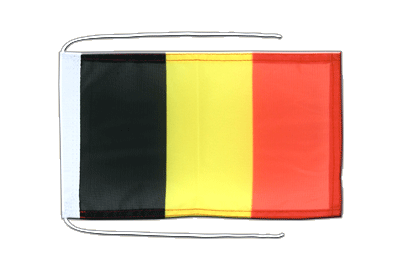 Flag with ropes Belgium - 8x12""