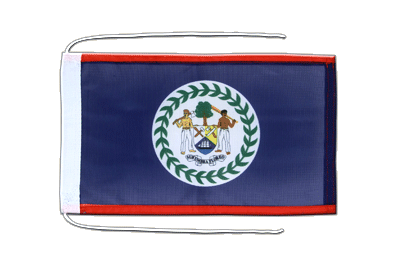Flag with ropes Belize - 8x12""