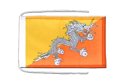 Flag with ropes Bhutan - 8x12""