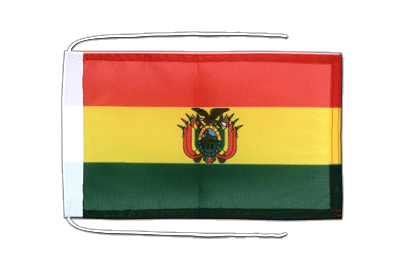 Flag with ropes Bolivia - 8x12""