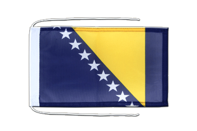 Flag with ropes Bosnia-Herzegovina - 8x12""