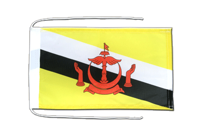 Flag with ropes Brunei - 8x12""