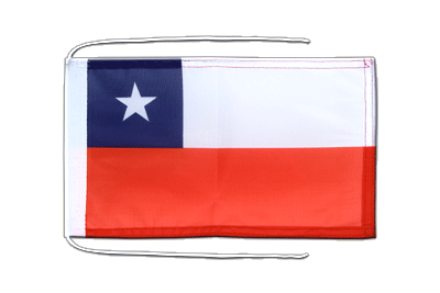 Flag with ropes Chile - 8x12""