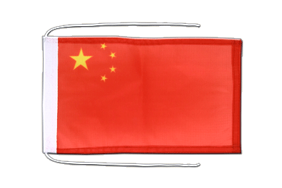 Flag with ropes China - 8x12""