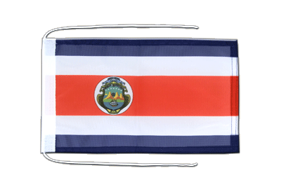 Flag with ropes Costa Rica - 8x12""