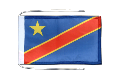 Flag with ropes Democratic Republic of the Congo - 8x12""