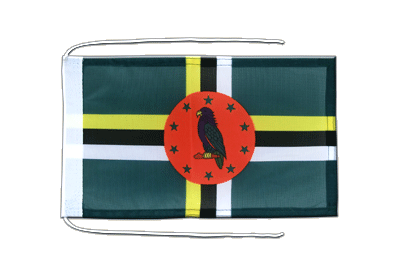Flag with ropes Dominica - 8x12""