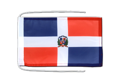 Flag with ropes Dominican Republic - 8x12""
