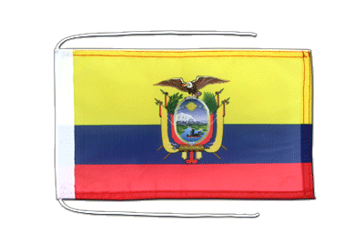 Flag with ropes Ecuador - 8x12""