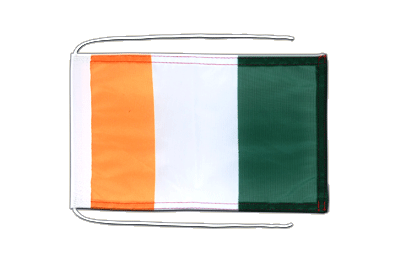 Flag with ropes Ivory Coast - 8x12""