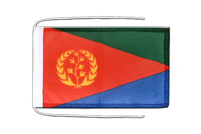 Flag with ropes Eritrea - 8x12""