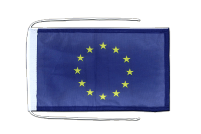 Flag with ropes European Union EU - 8x12""