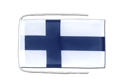 Flag with ropes Finland - 8x12""