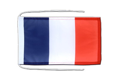 Flag with ropes France - 8x12""