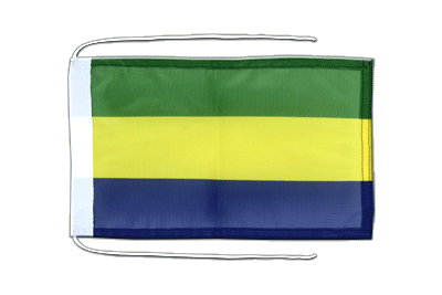 Flag with ropes Gabon - 8x12""