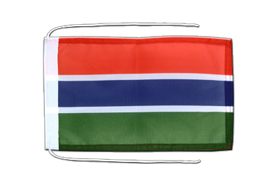 Flag with ropes Gambia - 8x12""