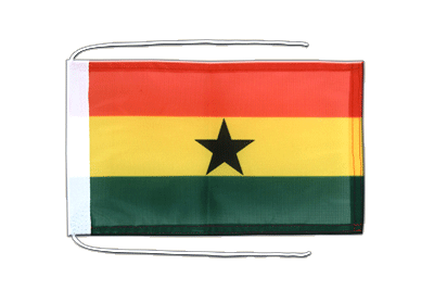 Flag with ropes Ghana - 8x12""