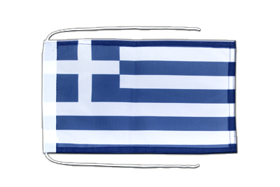 Flag with ropes Greece - 8x12""