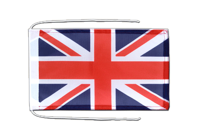 Flag with ropes Great Britain - 8x12""